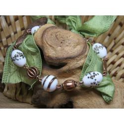 Bracelet - coiled beads +...