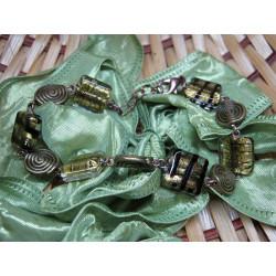 Bracelet - coiled beads...