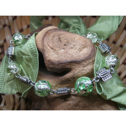 Bracelet - glass beads with...