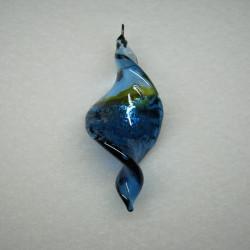 Glass pendants larger alone